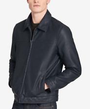 Tommy Hilfiger Men's Big & Tall Faux-Leather Jacket - Navy - Size UK 62-64