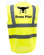 DRONE PILOT HI-VIS SAFETY VEST EQUESTRIAN. HIGH VIZ WAISTCOAT CYCLING ROAD