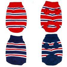 Vestiti per cani maglione XS TAZZA DA TE CAGNOLINO giocattolo Chihuahua Piccoli a Righe Rosso Blu 19cm