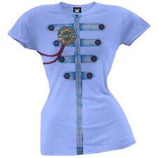 The Beatles -Sgt. Peppers Jacket Sublimation Juniors Blue T-Shirt