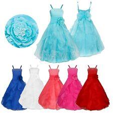 USFlower Girl Princess Tutu Dress Kid Party Pageant Wedding Bridesmaid Ball Gown