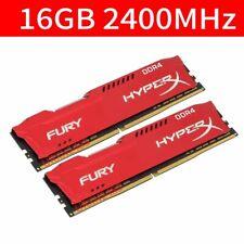 32GB 16GB DDR4 PC4-19200 2400MHz 288Pin 1.2V Desktop Memory For HyperX Fury Red