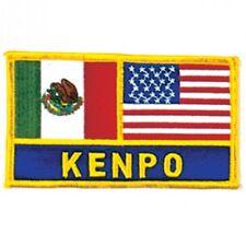 "Mexico and Usa Flag  00006000 Kenpo Martial Arts Patch - 5"""