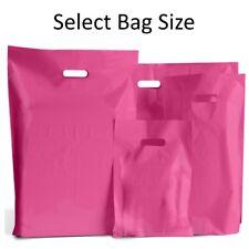 Color de rosa caliente bolsas de plástico/portador de tienda de regalos Bolsa/Boutique minorista-Pequeños Y Grandes