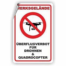 Drohnen Überflug verboten Quadrocopter Aufkleber Werkschutz Militär D-144