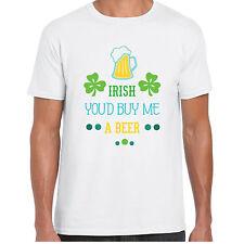 Irish You'd Buy Me A Beer - MensT shirt - St Patricks Day Irish Gift