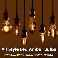 Ámbar LED Lámpara Vintage Antiguo Retro Navidad Bombillas de filamento Edison Ámbar