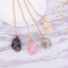 Women Pendant Chain Crystal Choker Chunky Statement Bib Necklace Fashion Jewelry
