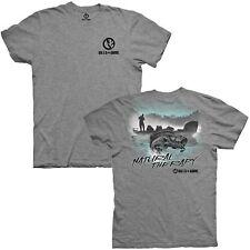 Gills N Game Bass Fishing Natural Therapy Heather Gray Short Sleeve Tee Shirt