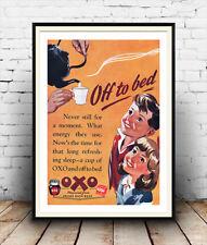 """OXO Stock cubi """"OFF A LETTO"""" Vintage Pubblicità POSTER RIPRODUZIONE."""