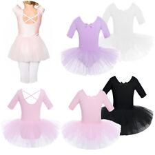 Girl Kid Leotard Tutu Ballet Dance Dress Ballerina Fairy Dancewear Skating 2-10Y