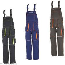 Arbeitshose Arbeitslatzhose Arbeitskleidung Berufskleidung Basalt Neon Planam