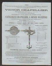 """ERNEE (53) PRESSOIR """"V. CHAPELLIER"""" en 1882"""