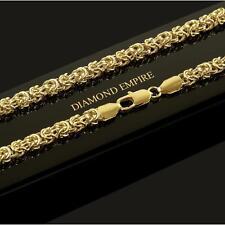 Damen Königskette Halskette 6mm Echt 750er Gold 18K vergoldet UVP:140€ K1809S