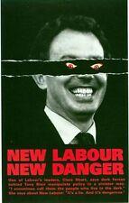 1997 conservatore ANTI Tony Blair New Labour cartellone elettorale A3 / A2 stampa