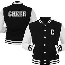 Cheerleader Collegejacke schwarz weiß von Gr. 104 - XXL Cheerleader Cheer Jacke
