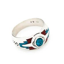 Türkis Koralle Ring Indianerschmuck Westernschmuck Navajo Style CR910