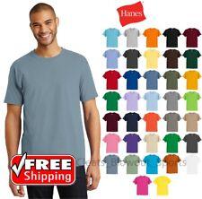 Hanes Tagless Short Sleeve T-Shirt 6oz Comfort Cotton Soft Plain Blank Tee 5250