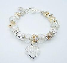 Bracciale argento 925 cuore donna gioiello Faschion Bracelet Silver Women Hearth
