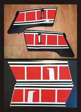 Yamaha XT 600 convogliatori rossi 1990/94 - adesivi/adhesives/stickers/decal