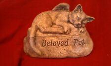 Ceramic/Pet/ Cat Urn cremation/memorial/angel.. Beloved Pet!!