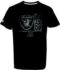 Oakland Raiders T-Shirt Tee,NFL Football,100% BW,Logo,Team,from Majestic
