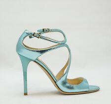 Jimmy Choo Ladies Blue Mirror Sandal LANG  New in Box