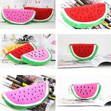 Women Watermelon Soft Plush Coin Wallet Purse Handbag Pencil Case Cosmetic Bag Q