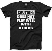 Attenzione! non svolgere bene con gli altri-Scontroso Moody UNISEX UOMO T-SHIRT