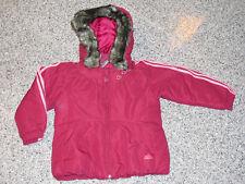Adidas Winterjacke Adigirl mit abnehmbarer Kapuze Gr. 74 80 86 92 98 104 Neu