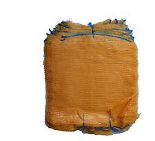 Net Woven Sacks Vegetables Logs Kindling Wood Log Mesh Bag 5-30kg YELLOW