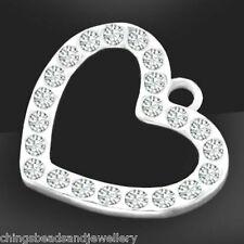 Las claves de Plata Encantos Colgantes Vintage Alice Steampunk Amor Corazón Princesa Reina