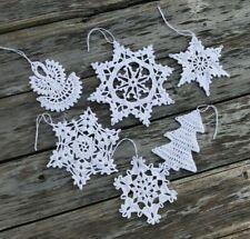 Handmade crochet Christmas tree baubles Christmas ornaments 1set of 60 Piece