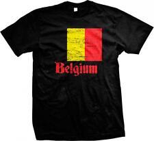 Belgium Flag Koninkrijk Belgie Trots Belgique Belgien Pride Mens T-shirt