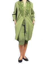 ROBERTA GUERCINI abito donna verde 100% cotone MADE IN ITALY