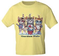 marcas Kids Camiseta Camisetas 122-164 gatos jardín Pals ka533 AMARILLO