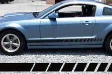 2005- 2017 Ford Mustang Side Rocker Panel Strobe Stripes Decals 2013 2014 2015