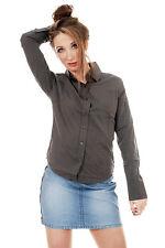 LADIES WOMENS INDIE RETRO NEW VINTAGE GREY BLOUSE SHIRT SIZES 8 10 12
