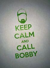 Supernatural Keep Calm and Call Bobby Precision Die Cut Vinyl Decal Singer Idjit