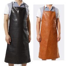 Leather Apron Waterproof Anti-Oil Restaurant Cooking Chef Bib Kitchen&Garden AU