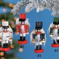 NUTCRACKER Christmas Ornament, priced each, asst colors