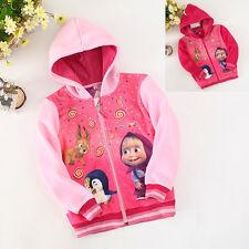Masha e Orso Felpa Cotone Felpato Masha Bear Hoodie Jacket SH003