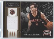 2012 Panini Threads Authentic #32 Jose Calderon Toronto Raptors Basketball Card
