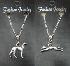 """18 """"o 24 Pulgadas Cadena Collar & Greyhound dog Colgante Regalo Souvenir"""
