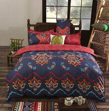 Bohemian Duvet Quilt Doona Cover + Pillowcase Cotton Bedding Set Twin Queen King
