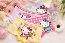4Pcs Hello Kitty cotton girl short kids panties boxer 3T-9 set brief underwear