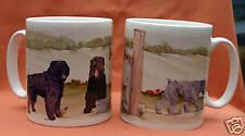 BOUVIER DES FLANDRES DOG MUG OFF TO THE DOG SHOW WATERCOLOUR PRINT SANDRA COEN