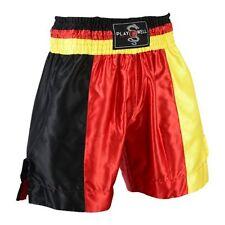 Playwell Boxeo Pro Equipo Bandera ALEMANIA Shorts de Artes Marciales Kick Boxing