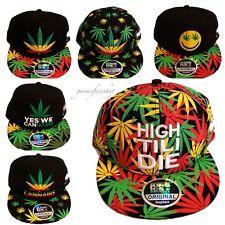 Cannabis snapback caps, weed plat pic chapeaux, la marijuana baseball pour homme & femme