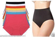 High Waist Tummy Control Panties Laser Cut Briefs NEW #5507 Lot 6 or 12 Pack